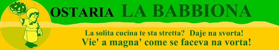 Osteria La Babbiona – cucina tipica civitavecchiese e romanesca a Civitavecchia